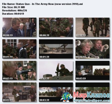 Status Quo - In The Army Now (New Version 2010)