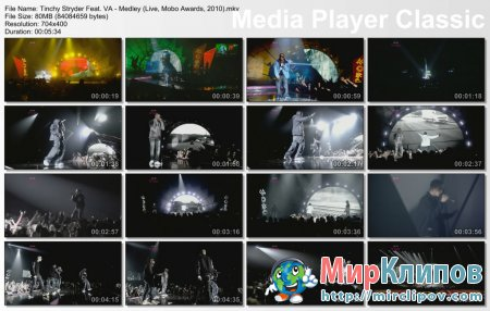 Tinchy Stryder Feat. VA - Medley (Live, Mobo Awards, 2010)