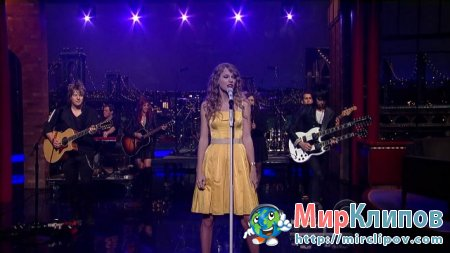 Taylor Swift - Speak Now (Live, Late Show With David Letterman)