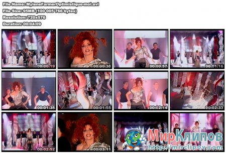 Mylene Farmer - Optimistique Moi (Live)