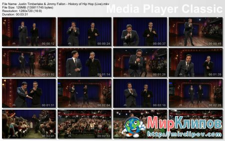 Justin Timberlake Feat. Jimmy Fallon - History Of Hip Hop (Live)