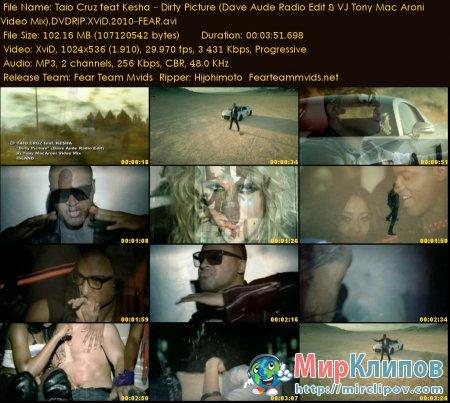 Taio Cruz Feat. Kesha - Dirty Picture (Dave Aude Radio Edit & VJ Tony Mac Aroni Video Mix)