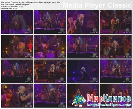 Christina Aguilera - Fighter (Live, Saturday Night, 2003)