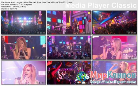 Avril Lavigne - What The Hell (Live, New Year's Rockin' Eve 2011)