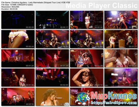 Christina Aguilera - Lady Marmelade (Live, Stripped Tour)