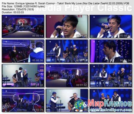 Enrique Iglesias Feat. Sarah Connor - Takin' Back My Love (Live, Nur Die Liebe Zaehlt, 2009)
