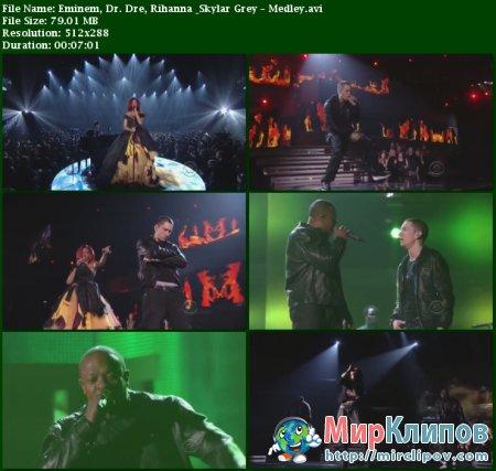 Eminem Feat. Dr. Dre, Rihanna & Skylar Grey - Medley (Live, Grammy Awards, 2011)