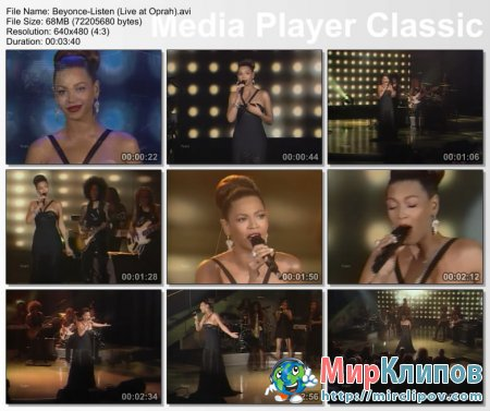 Beyonce - Listen (Live, Oprah's Show)