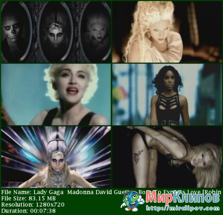 Lady Gaga Feat. Madonna & David Guetta - Born To Express Love (Robin Skouteris Mix)