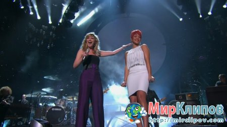 Rihanna Feat. Jennifer Nettles - California King Bed (Live, ACM Awards, 2011)