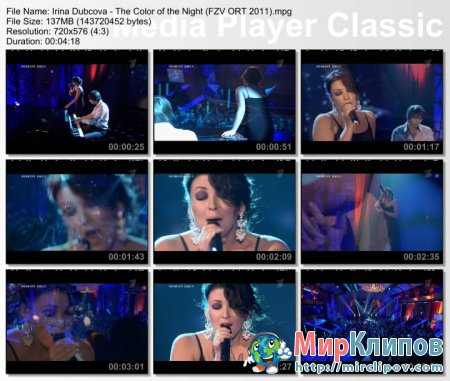 Ирина Дубцова - The Color Of The Night (Live, Фабрика Звезд. Возвращение, 2011)