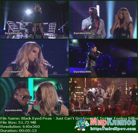 Black Eyed Peas - Just Can't Get Enough & I Gotta Feeling (Live, Billboard Music Awards, 2011)