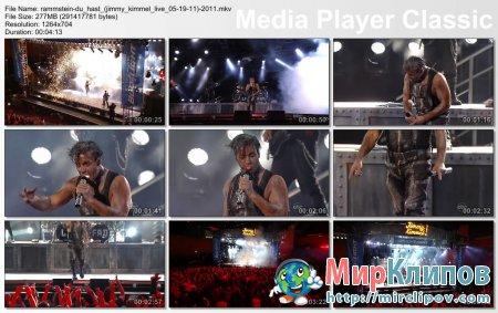 Rammstein - Du Hast (Live, Jimmy Kimmel, 05.19.11)