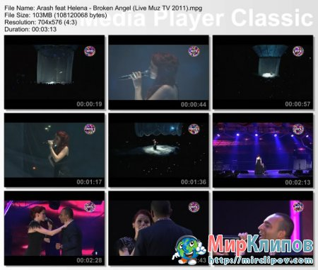 Arash Feat. Helena - Broken Angel (Live, Премия Муз ТВ, 03.06.2011)