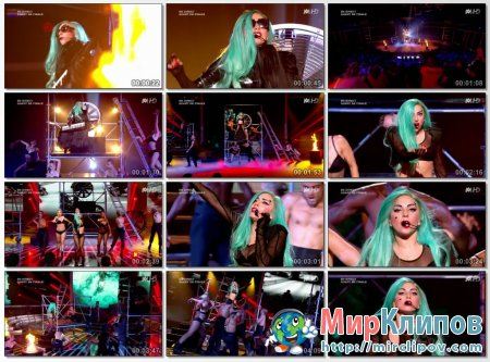Lady Gaga - The Edge Of Glory & Judas (Live, X-Factor, France)