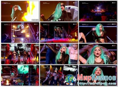 Lady Gaga - The Edge Of Glory & Judas (Live, X-Factor, France)