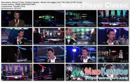 Maroon 5 Feat. Christina Aguilera - Moves Like Jagger (Live, The Voice, 21.06.11)