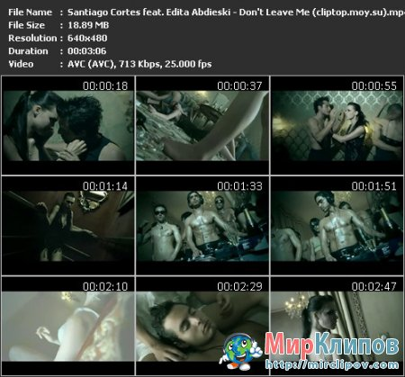 Santiago Cortes Feat. Edita Abdieski - Don't Leave Me