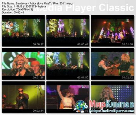 БандЭрос - Адьос (Live, Премия МузТВ. Продолжение. Питер, 2011)