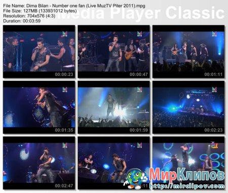 Дима Билан - Number One Fan (Live, Премия МузТВ. Продолжение. Питер, 2011)
