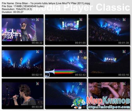Дима Билан - Я Просто Люблю Тебя (Live, Премия МузТВ. Продолжение. Питер, 2011)