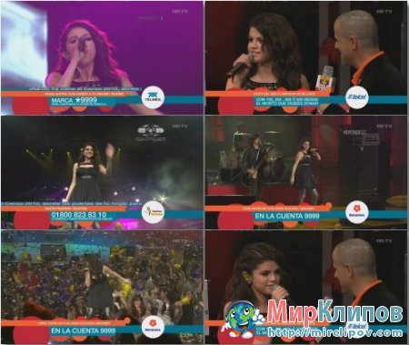 Selena Gomez - Falling Down & Naturally (Live, Teleton, Mexico)