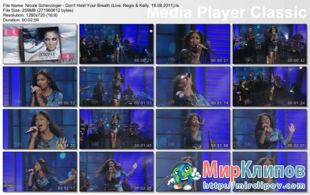 Nicole Scherzinger - Don't Hold Your Breath (Live, Regis & Kelly, 18.08.2011)