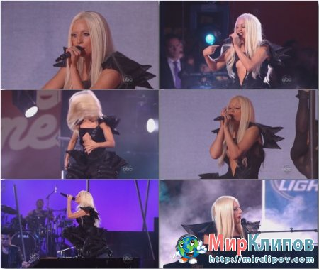 Lady Gaga - You and I & The Edge Of Glory (Live, Jimmy Kimmel Show, 28.07.2011)