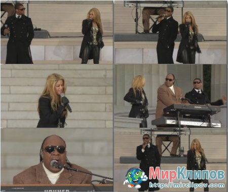 Shakira Feat. Usher & Stevie Wonder - Higher Ground (Live, 2009)
