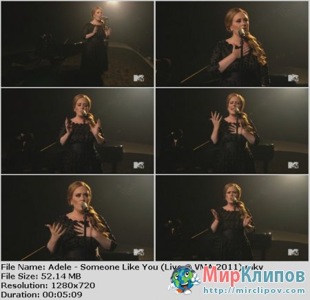Adele - Someone Like You (Live, VMA, 2011)