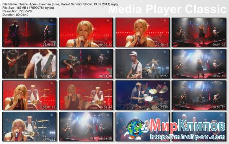 Guano Apes - Fanman (Live, Harald Schmidt Show, 13.09.2011)