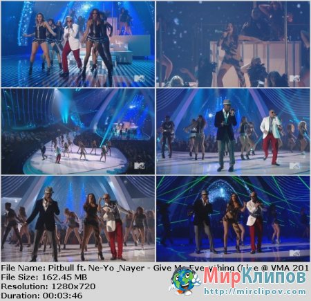 Pitbull Feat. Ne-Yo & Nayer - Give Me Everything (Live, MTV VMA, 2011)