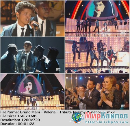 Bruno Mars - Valerie (Tribute To Amy Winehouse) (Live, MTV VMA, 2011)