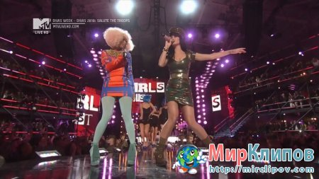 Katy Perry Feat. Nicki Minaj - Girls Just Want To Have Fun (Live, VH1 Divas Salute The Troops, 2010)