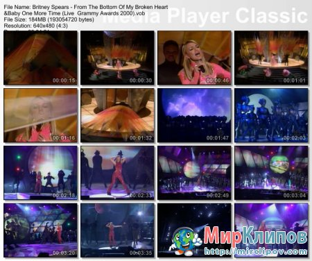 Britney Spears - Medley (Live, Grammy, 2000)