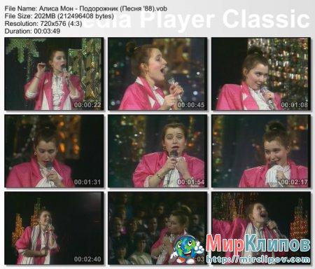 Алиса Мон - Подорожник (Live, Песня, 1988)
