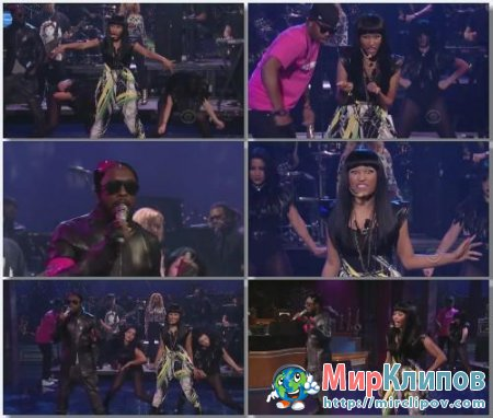 Nicki Minaj Feat. Will.I.Am - Check It Out (Live, Letterman Show, 2011)