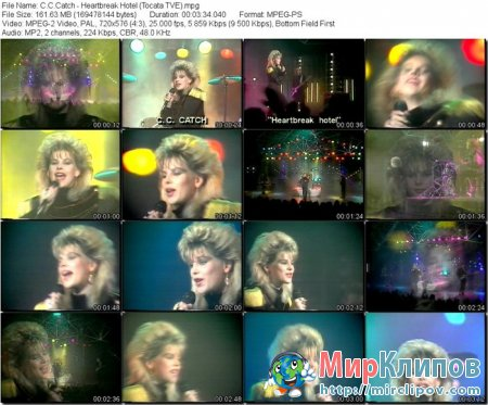 C.C.Catch - Heartbreak Hotel (Live, Tocata, 1986)
