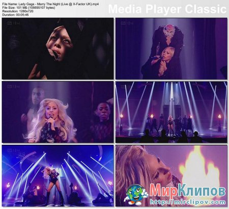 Lady Gaga - Marry The Night (Live, X-Factor, UK, 2011)