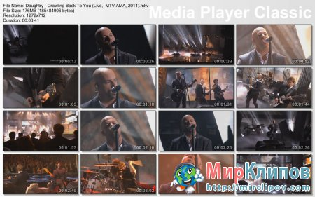 Daughtry - Crawling Back To You (Live, American Music Awards, 2011)