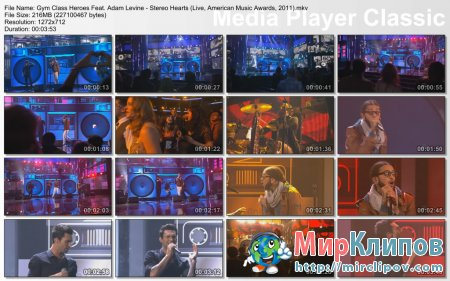Gym Class Heroes Feat. Adam Levine - Stereo Hearts (Live, American Music Awards, 2011)