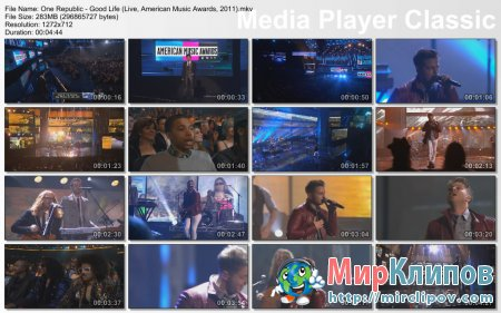 One Republic - Good Life (Live, American Music Awards, 2011)