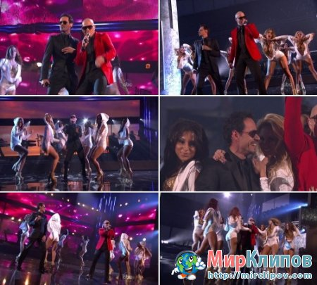 Pitbull Feat. Marc Anthony & Lil Jon - Rain Over Me (Live, American Music Awards, 20
