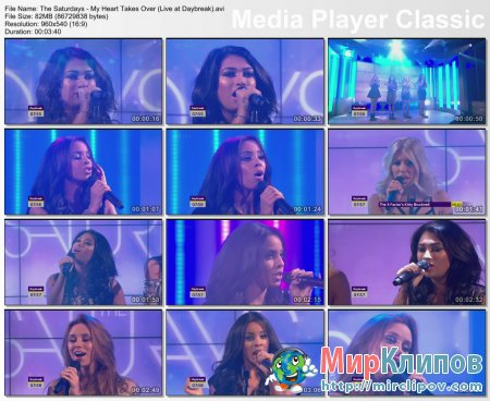 The Saturdays - My Heart Takes Over (Live, Daybreak)