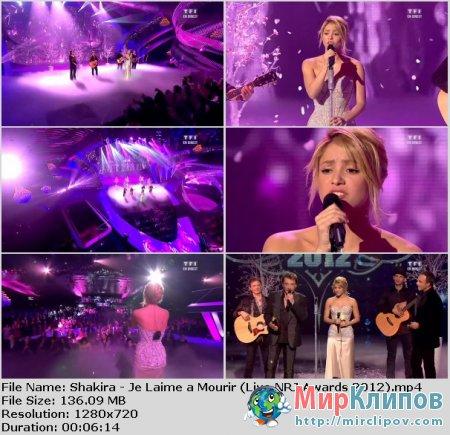 Shakira - Je Laime A Mourir (Live, NRJ Awards, 2012)