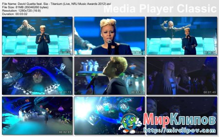 David Guetta Feat. Sia - Titanium (Live, NRJ Music Awards 2012)