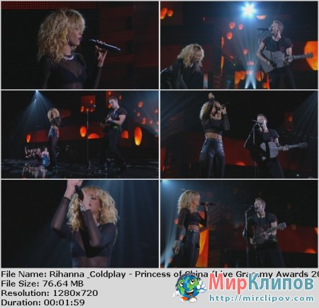 Rihanna Feat. Coldplay - Princess Of China (Live, Grammy Awards, 2012)