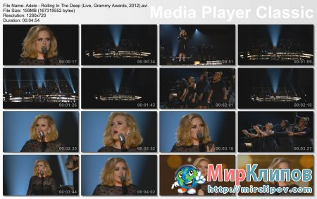Adele - Rolling In The Deep (Live, Grammy Awards, 2012)