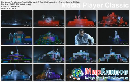 Chris Brown - Turn Up The Music & Beautiful People (Live, Grammy Awards, 2012)