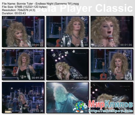 Bonnie Tyler - Endless Night (Live, Sanremo, 1991)